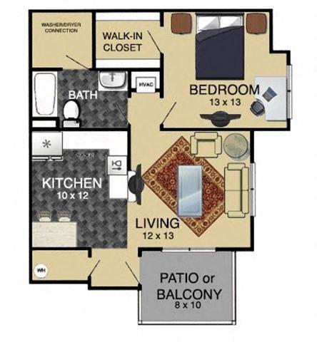 1 Bedroom 2nd Floor