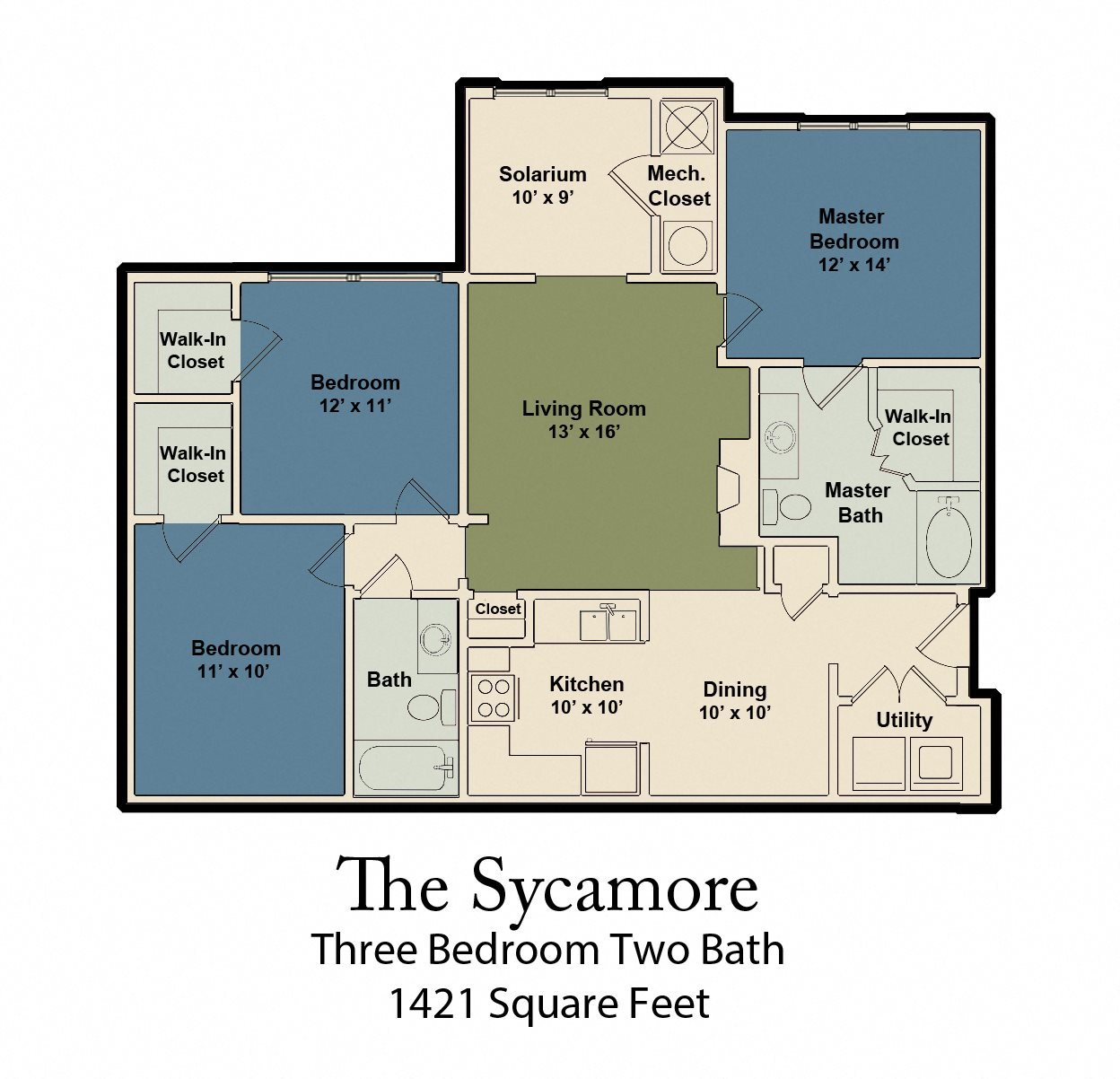 The Sycamore Floor Plan 1