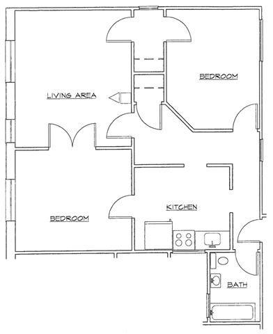 Two Bedroom-C Floor Plan 9