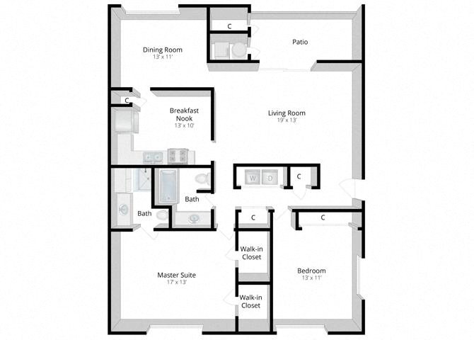 Sanctuary: Two Bedroom Apartment Floor Plan 3