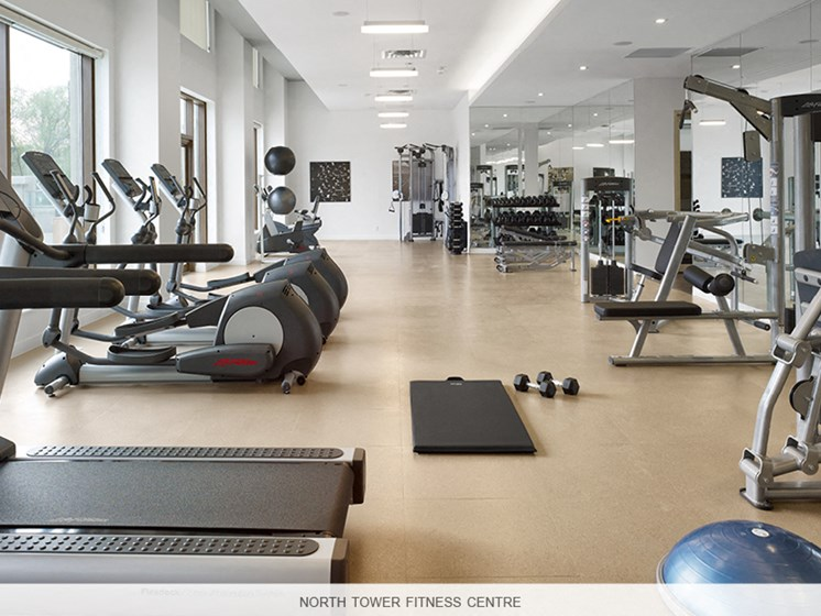 Fully Equipped Fitness Room North Tower