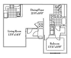Oversized 1 Bedroom