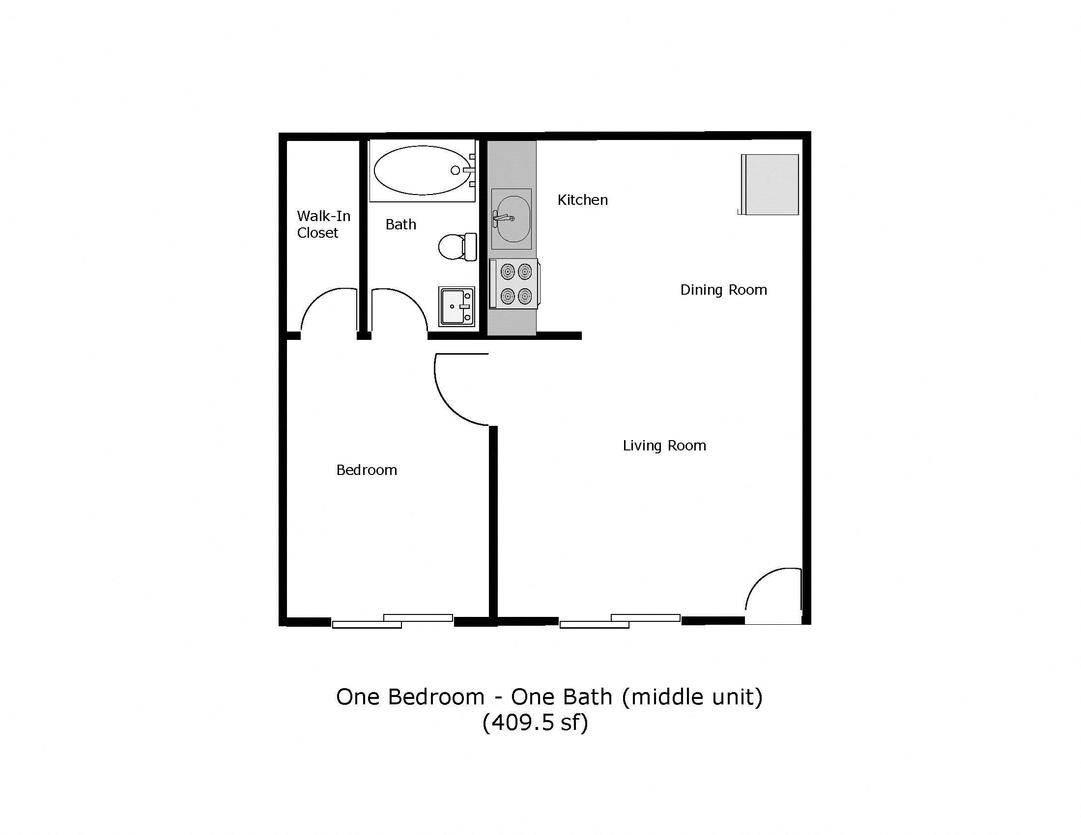 Dana Drive - 1189 Dana Drive, Fairfield - 1 Bed 1 Bath Floor Plan 2