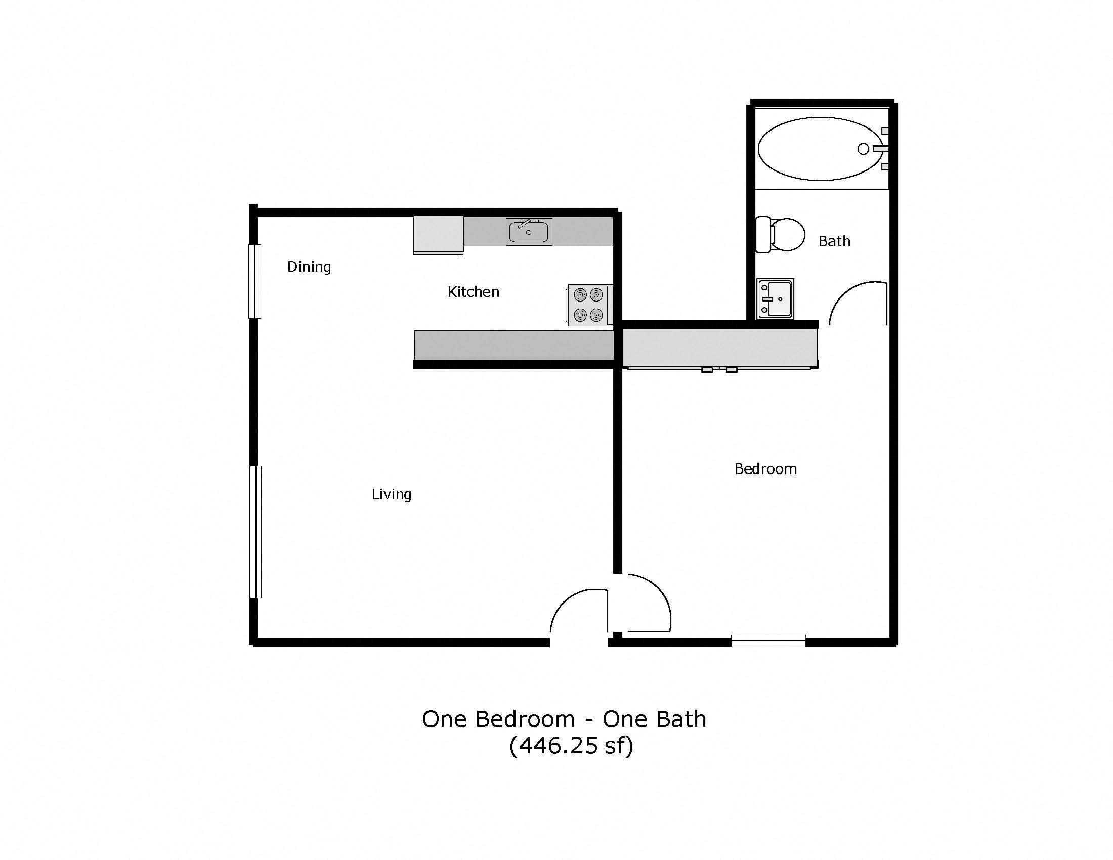 Marpel - Carpenter/Washington Street, Fairfield - 1 Bed 1 Bath Floor Plan 4