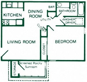 1 Bedroom 1 Bath Standard