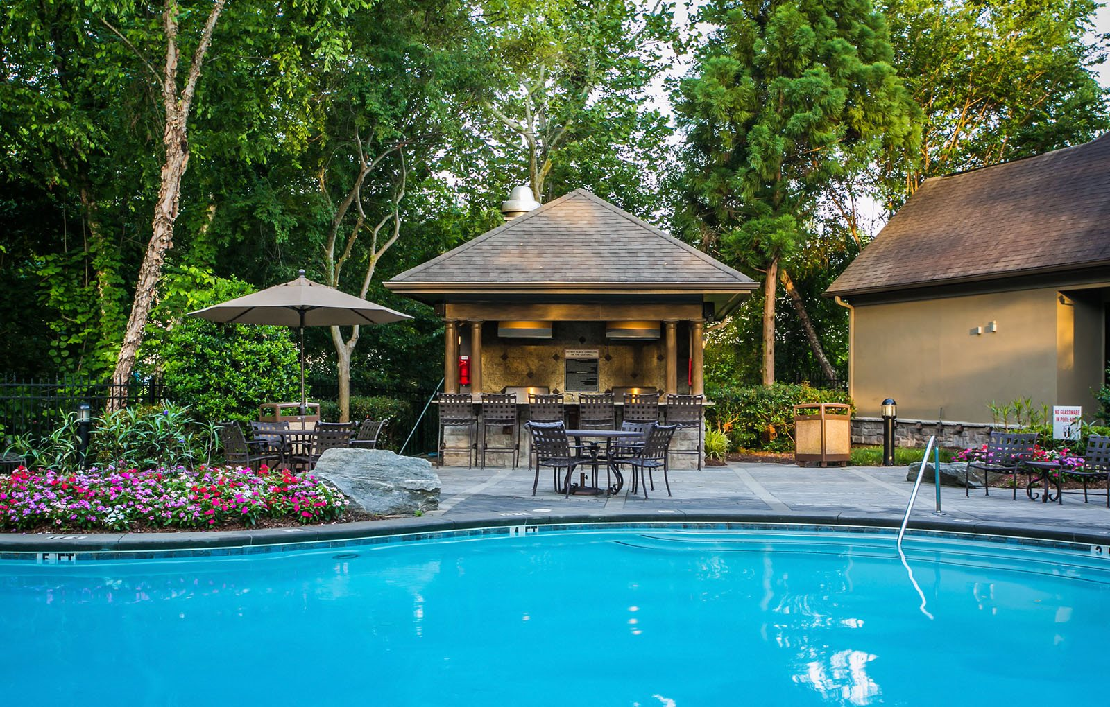 Crystal Clear Swimming Pool and Cabana at Stone Creek at Brookhaven Apartment Homes in Atlanta, GA 30329