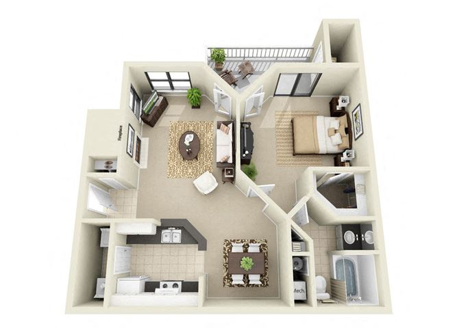 two bedroom apartment Duluth, GA
