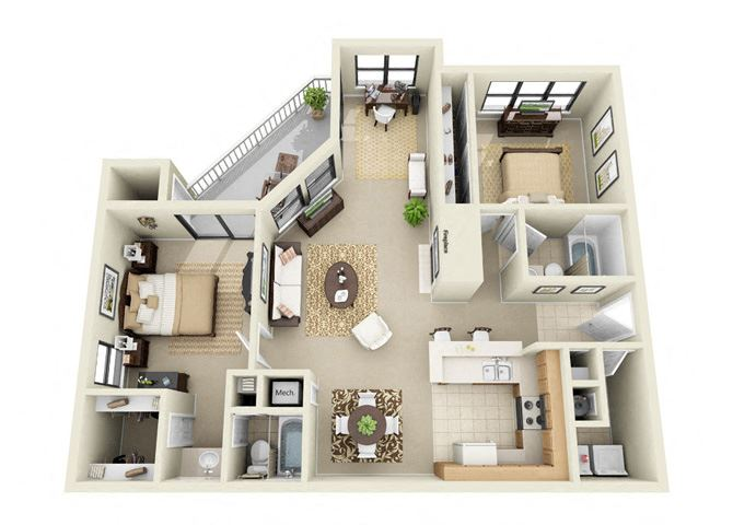 two bedroom apartment Duluth GA