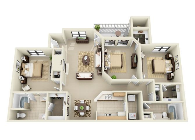 three bedroom apartment Duluth GA