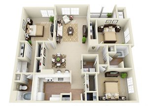 cobb county apartments at Glen Park Apartment Homes in Smyrna, GA