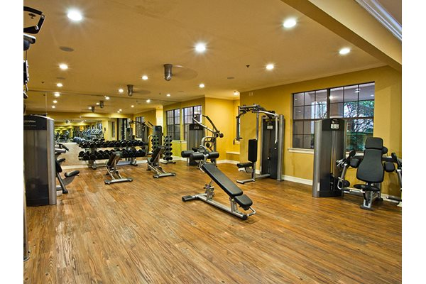Image of the fitness center at the courts in dallas, tx
