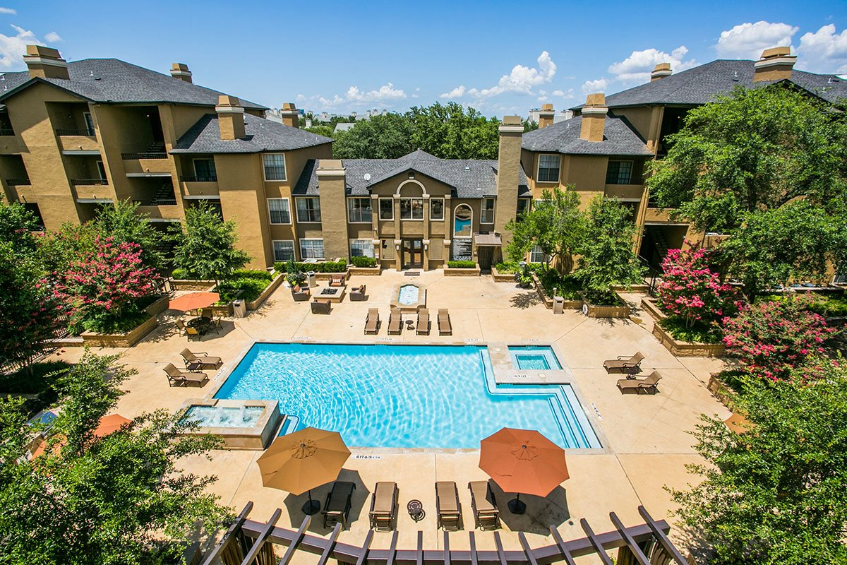 Two Sparkling Swimming Pools at Apartments in Addison TX