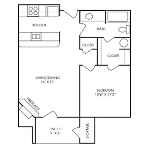 Reagan Floor Plan at Waterford Place Apartments in Atlanta, Georgia, GA