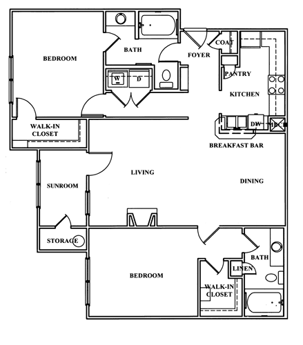 Apartmentreviews Com: Floor Plans Of Brentwood Downs In Lilburn, GA