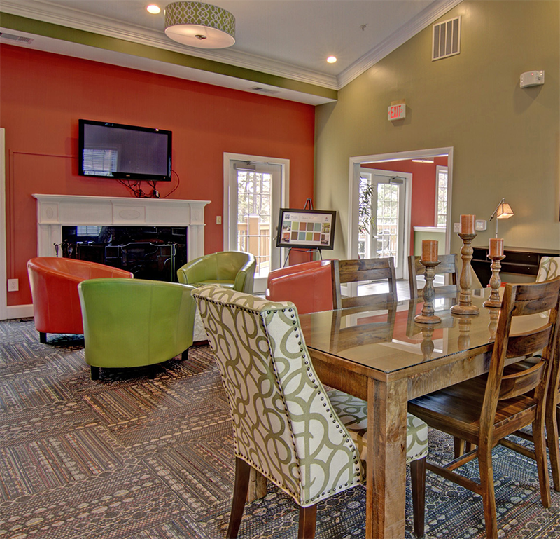 Clubhouse Interior at Brentwood Downs Apartment Homes in Lilburn, Georgia, GA