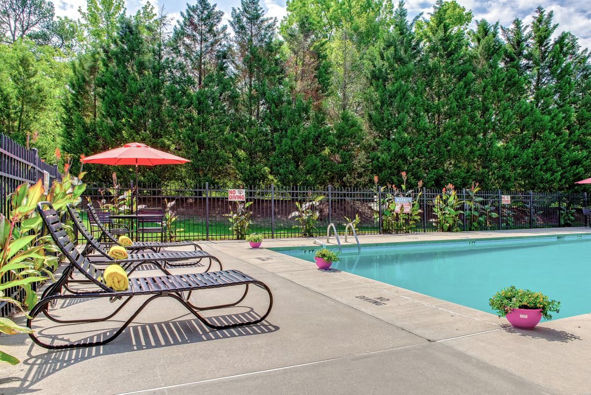 Pool At Davidson Apartment Homes In Concord, North Carolina, NC