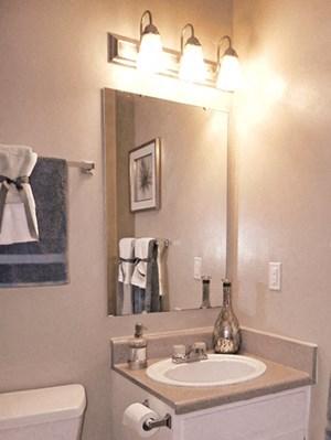 1 Bedroom Bathroom at Huntersville Apartments in Huntersville, North Carolina, NC