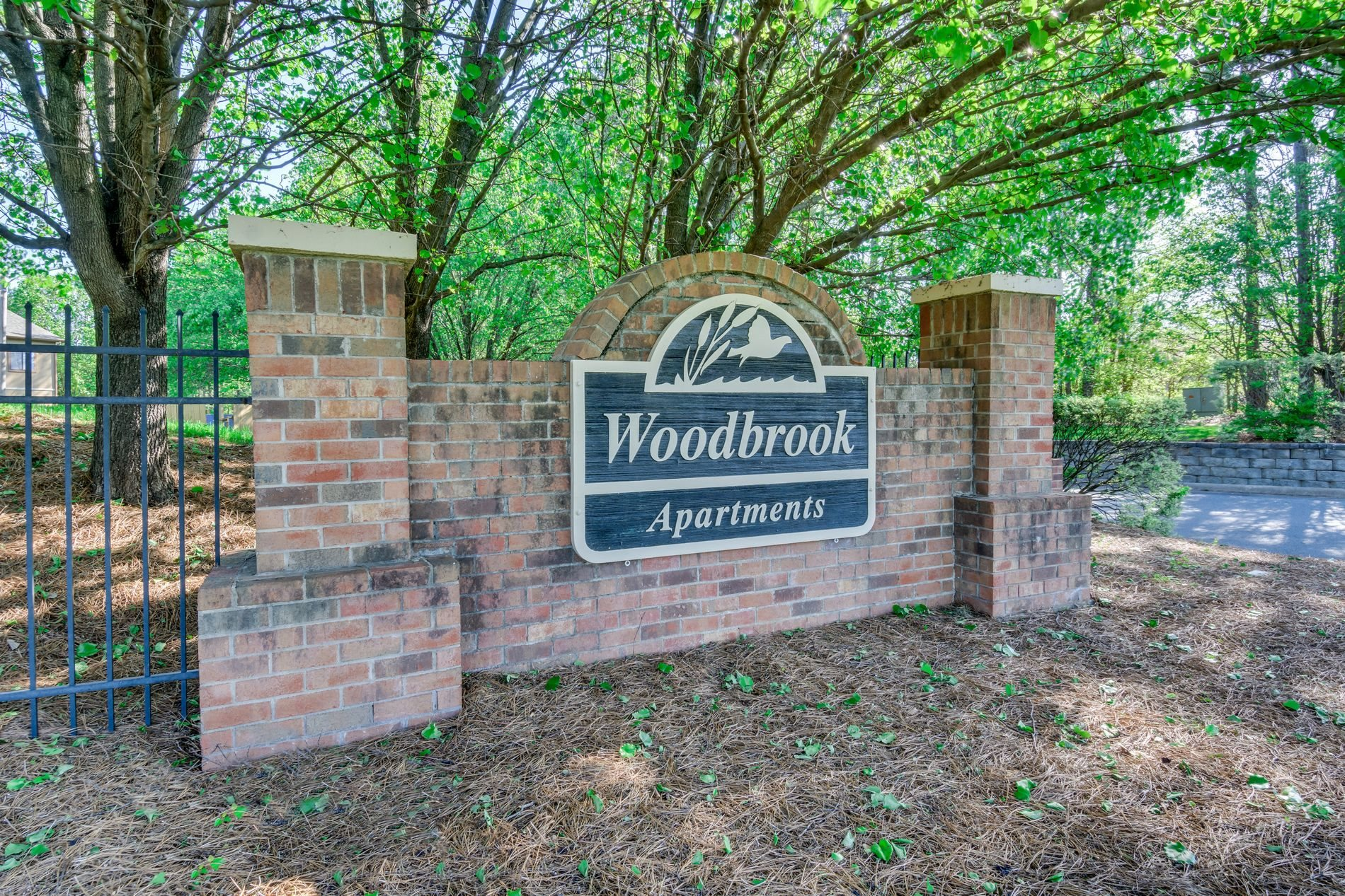 Entrance Signage at Woodbrook Apartments in Monroe, North Carolina, NC