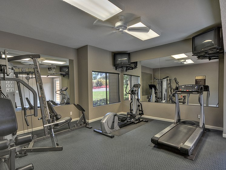 Luxury Apartment Community Fitness Center Gym Workout Cardio Weight Machines