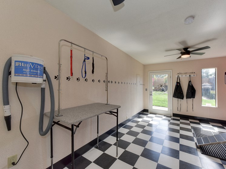 Luxury Apartment Community Pet Friendly Washing Grooming Area