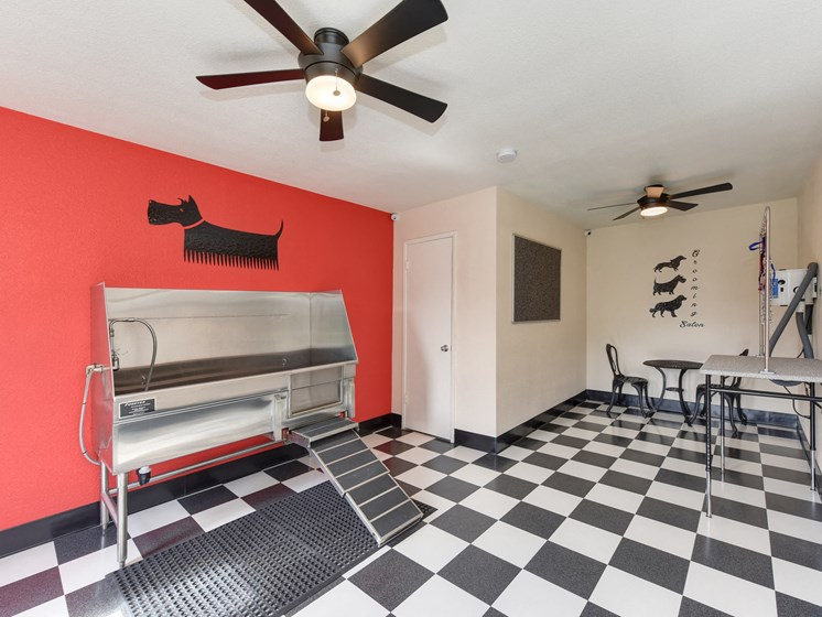 Luxury Apartment Community Pet Friendly Washing and Grooming Area