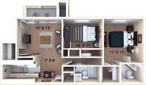 The Canyon W/D Floor Plan 5