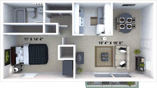 The Mesa Floor Plan 1