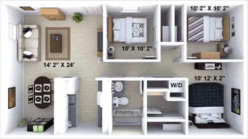 The Valley Floor Plan 3