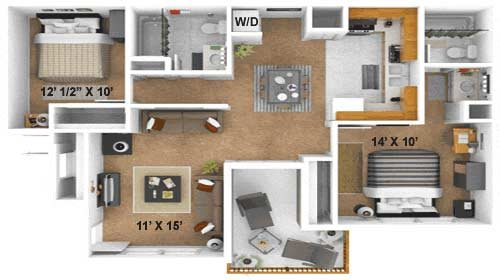 The Waldorf Floor Plan 3