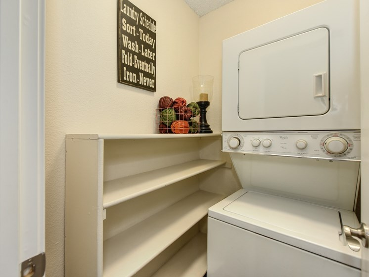 Luxury Apartment Community In Unit Washer and Dryer