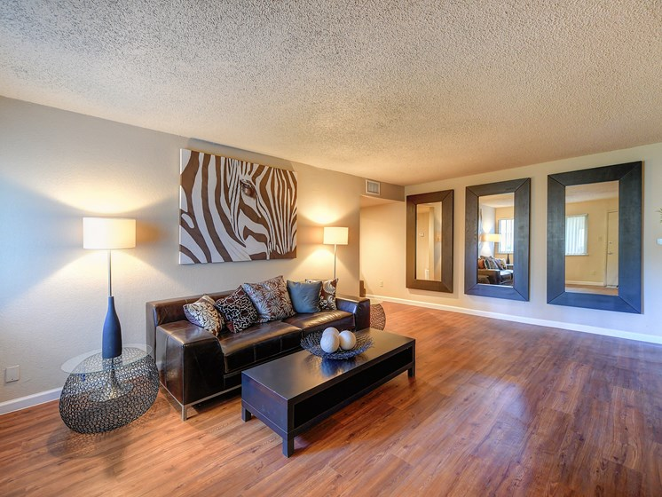 Luxury Apartment Large Living Room Wood Floor