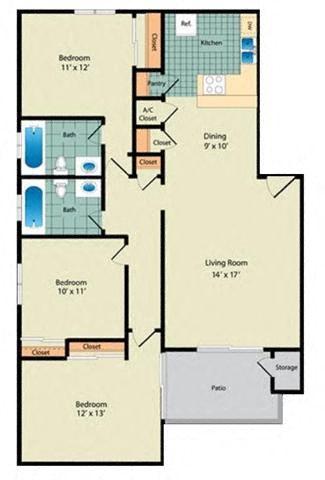 The Camelia Floor Plan 4