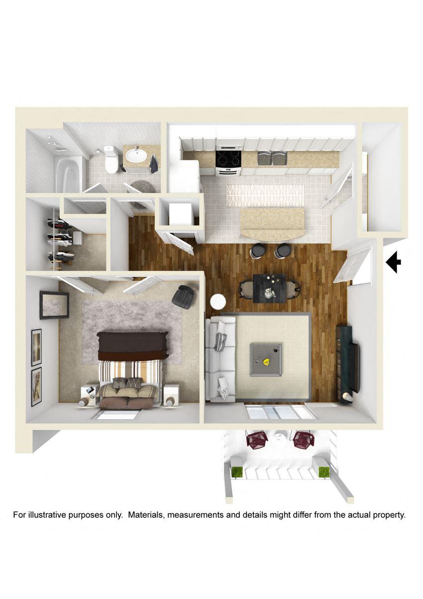 New 1 Bedroom 1 Bathroom