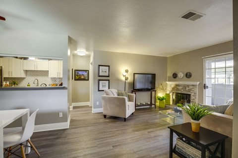 Vista Promenade Luxury Apartment Homes Furnished Apartment Living Room