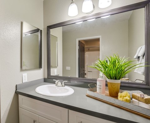 Vista Promenade Luxury Apartment Homes Furnished Apartment Bathroom