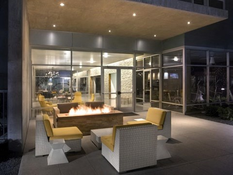 Outdoor seating with Firepit