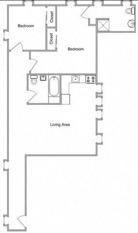 Two Bedroom Floor Plan 7