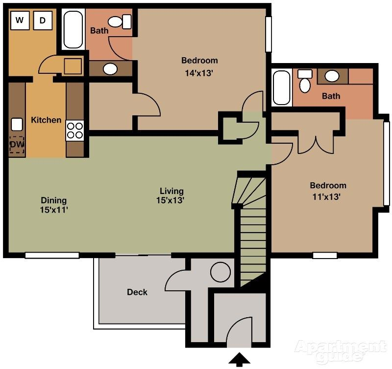 Two Bedroom Two Bathroom (large)