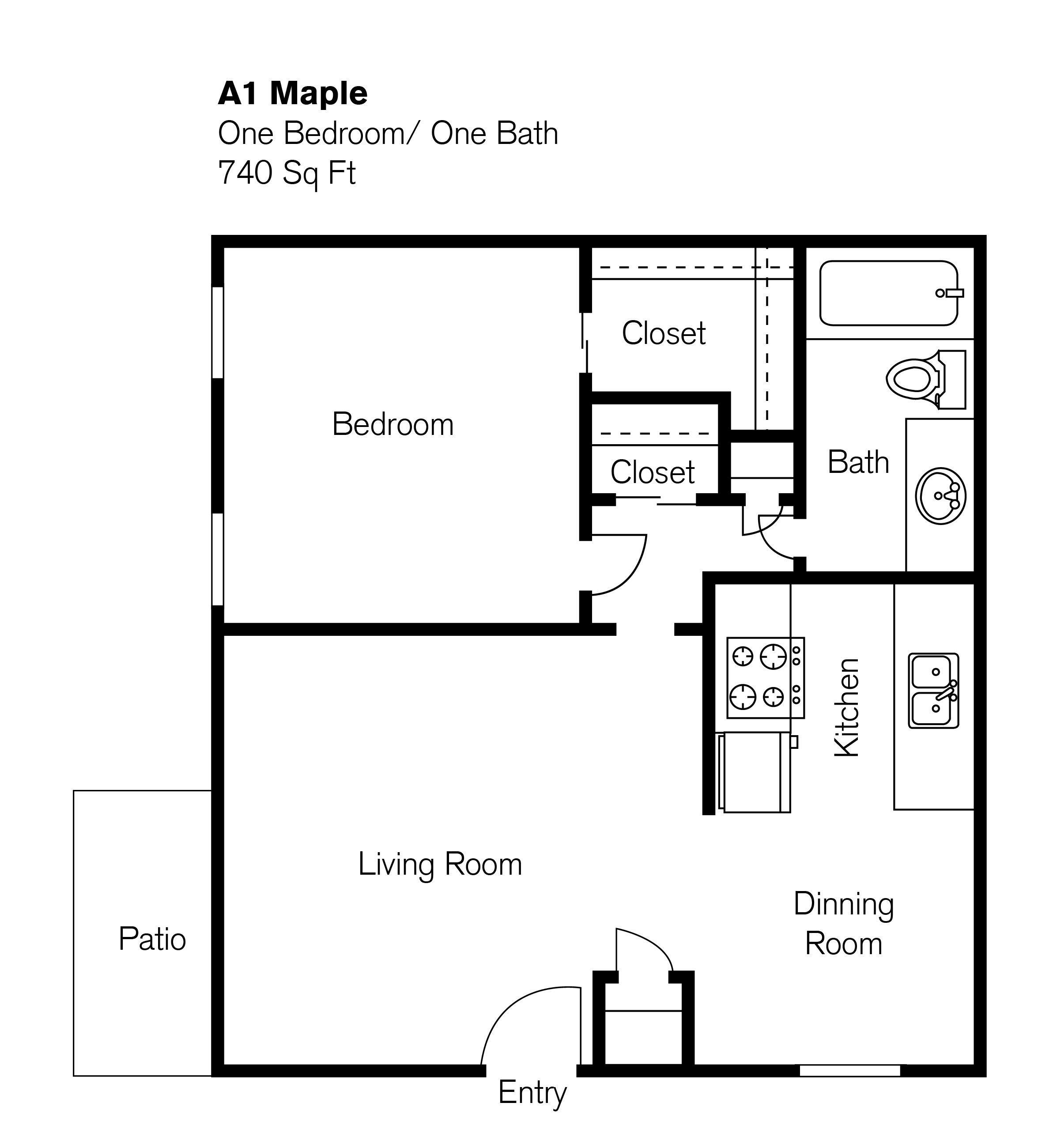 1 Bedroom Floor Plan Park At Ventana