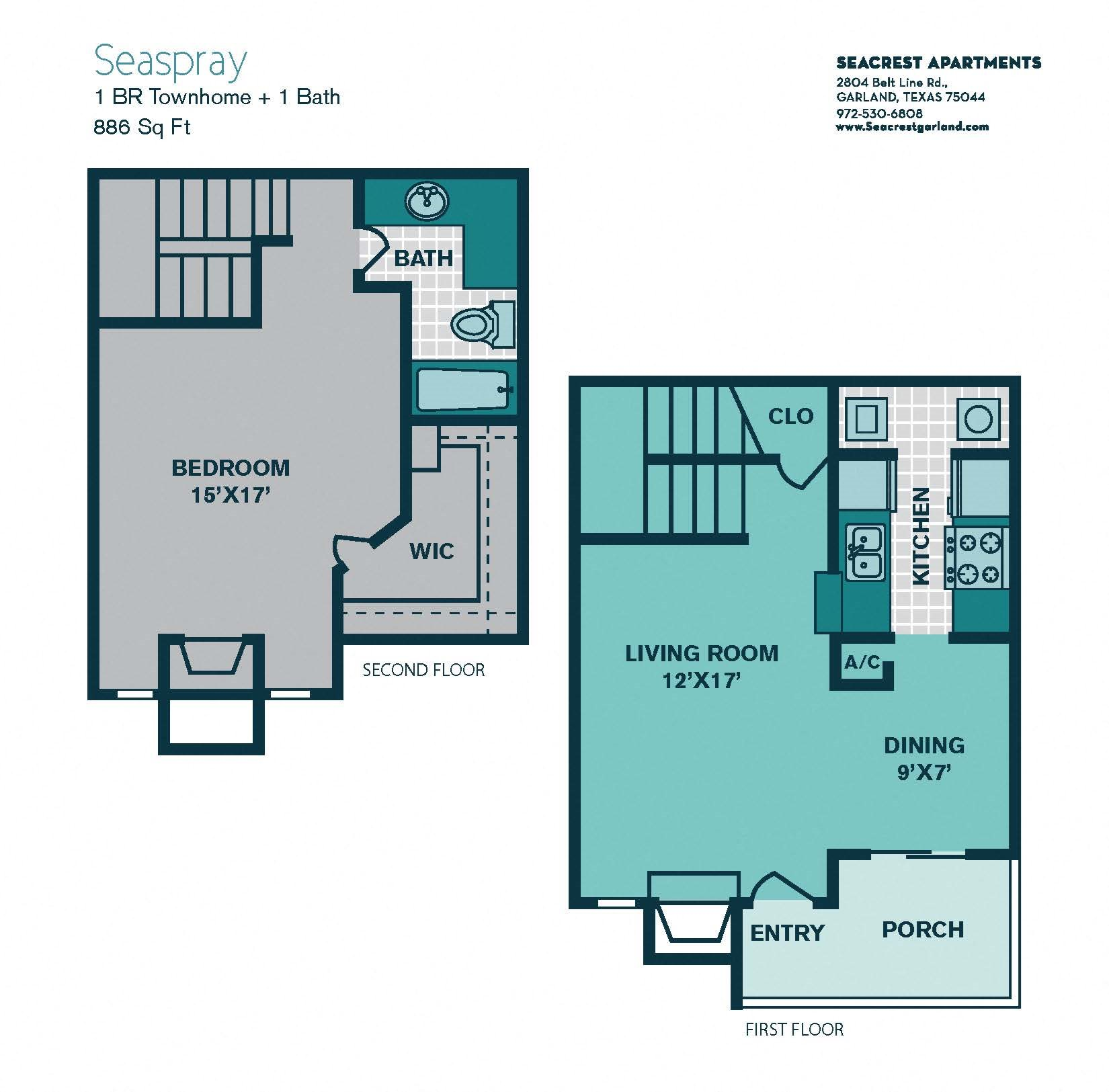 Apartments In Garland: Floor Plans Of Seacrest Apartments In Garland, TX