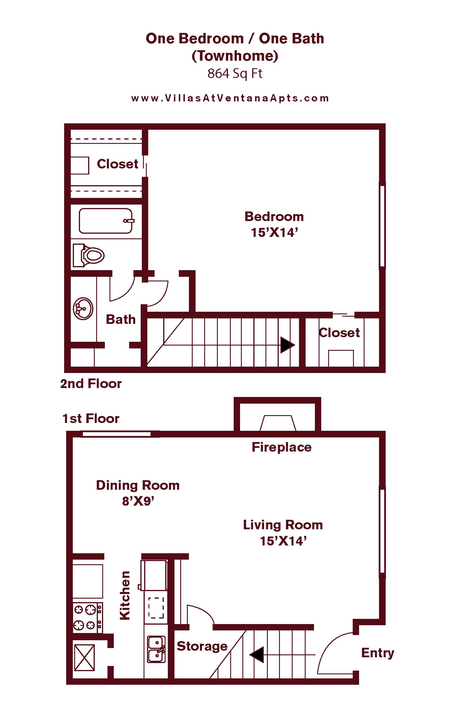 1 Bedroom A4 Floor Plan 4