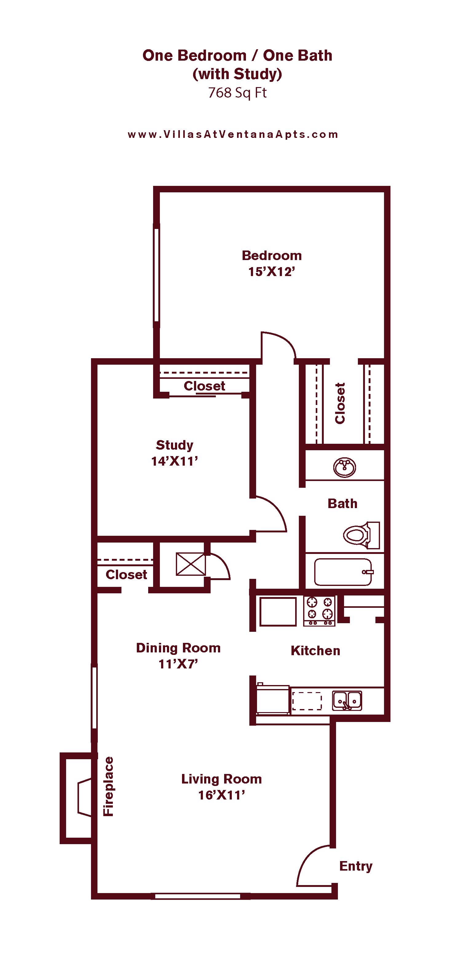 1 Bedroom A9 Floor Plan 9