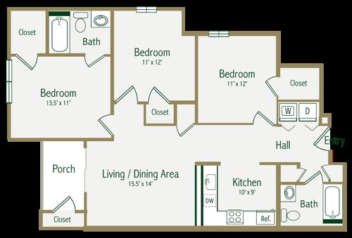 The Briery Floor Plan 3