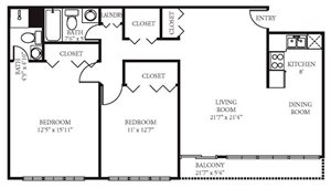 Vista Apartment Homes - 2 Bedroom 2 Bath Apartment