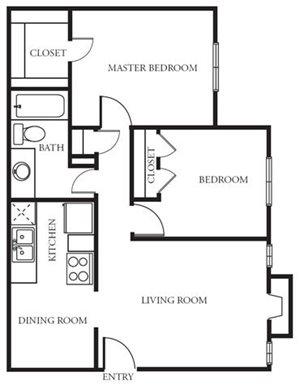 Two Bedroom/One Bath
