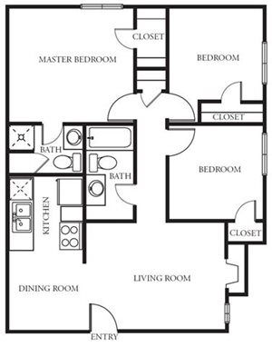 Three Bedroom/One and a half bath