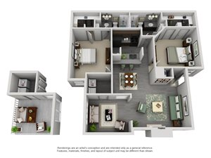 The Westside Apartment Homes - 2 Bedroom 2 Bath Apartment