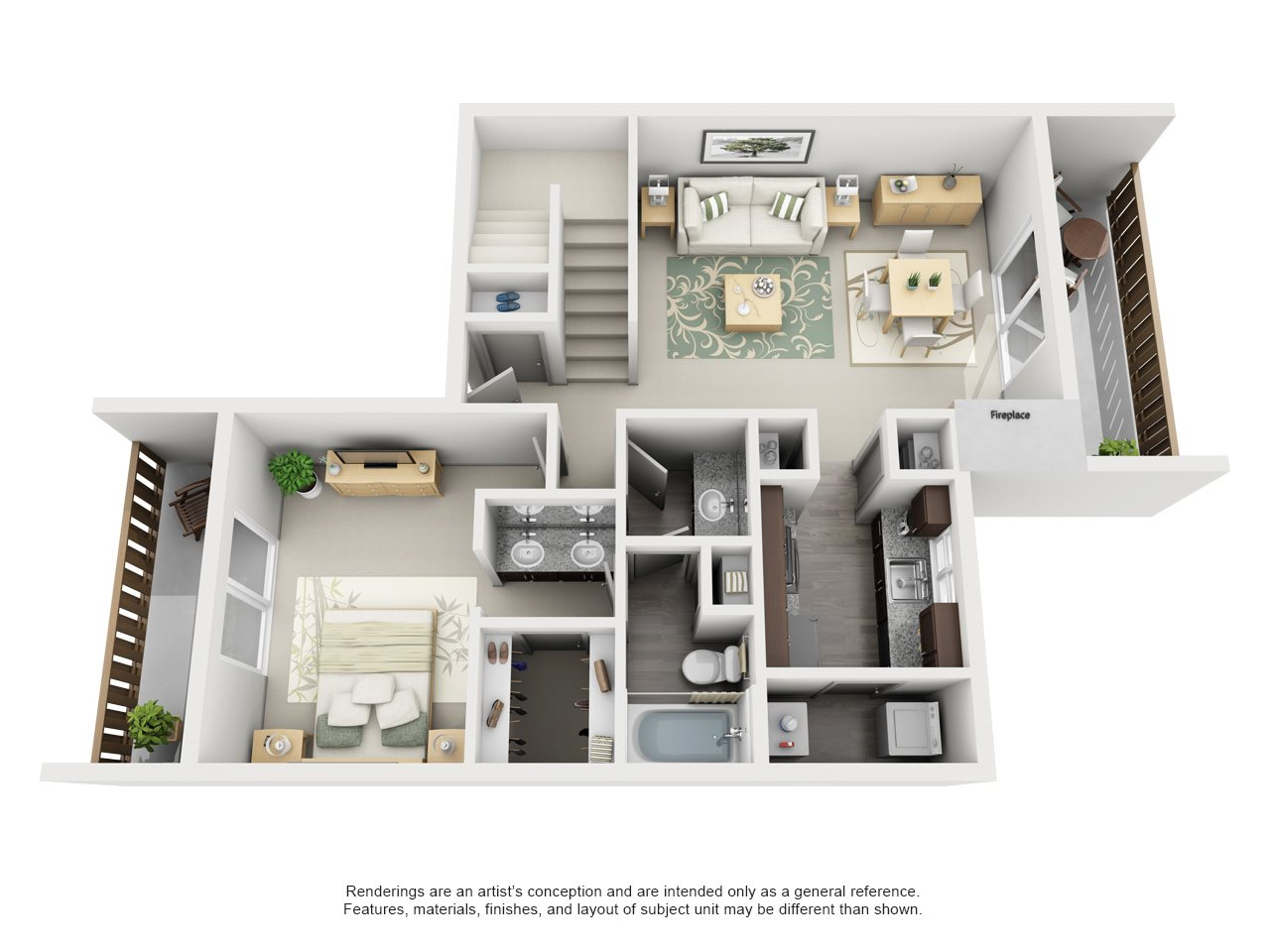 Maxwell Townhomes - 3 Bedroom 3 Bath Townhome