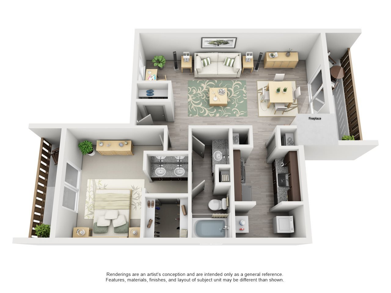 Maxwell Townhomes - 1 Bedroom 1 Bath Townhome
