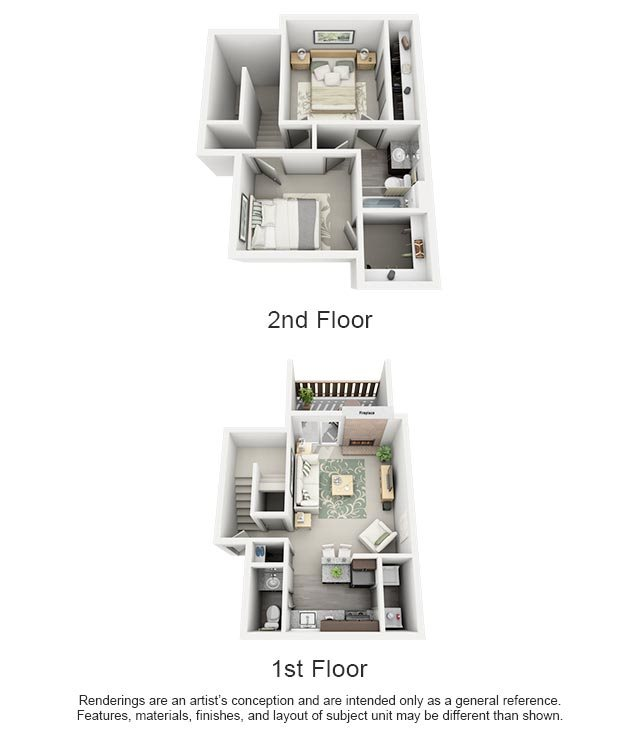 Maxwell Townhomes - 2 Bedroom 1.5 Bath Townhome